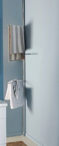 Porte-serviette télescopique 215-250 cm pour salle de bains.