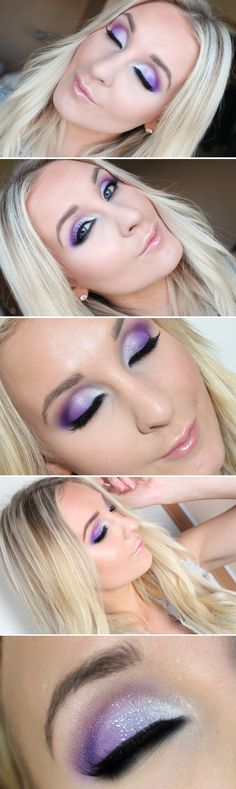 Dagens makeup – purple party | Helen Torsgården