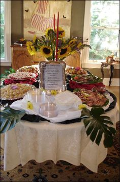 Spring Buffet Display