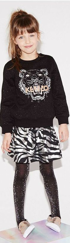 930be7f184 KENZO KIDS Girls EXCLUSIVE EDITION Black Glitter Tiger Sweatshirt  amp   Dress.  kenzo
