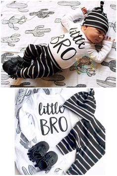 baby boy little BRO coming home outfit Black and gray Stripe ready to ship theme going home set hell - Baby Boy Shoes - Ideas of Baby Boy Shoes - Baby boy little BRO coming home outfit Black and gray Stripe The Babys, Baby First Outfit, Baby Boy Outfits, Baby Going Home Outfit Boy, Newborn Coming Home Outfit, Gigi And Max, Sewing Baby Clothes, Guy Clothes, Basic Clothes