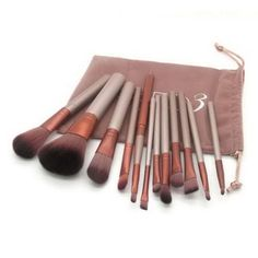 Pro Makeup Cosmetic 12pc/Set Powder Foundation Eyeshadow Lip Facial Brush Tools