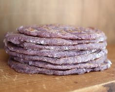 Blue Corn Tortillas: These colorful flat breads are sophisticated enough to add a lovely, warm edge to whatever it is that they are carrying, sweet or savory. Vegetarian Cooking, Cooking Recipes, Freezer Recipes, Freezer Cooking, Family Recipes, Healthy Cooking, Cooking Tips, Vegetarian Recipes, Healthy Food