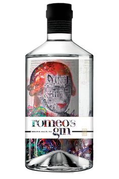 Romeo's Dry gin. 43 % ABV. Contemporary. From the creators of Pur vodka, first ultra premium vodka made in Quebec and the most awarded in Canada. Every bottle showcases artwork from various local and international artists. Botanicals : juniper, cucumber, dill, lavender, almond and lemon!