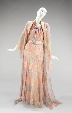 Evening ensemble ca. 1936  Other Dress #2dayslook #lily25789 #OtherDress  www.2dayslook.com