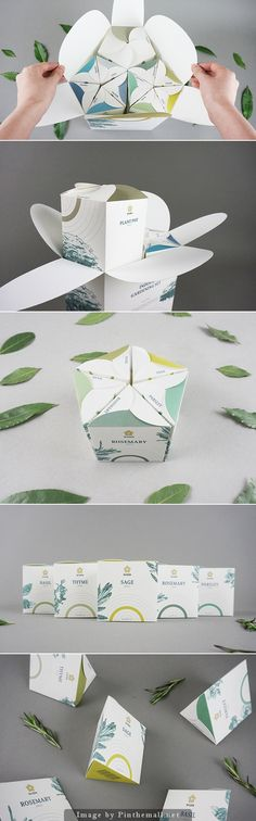 Well designed packaging for herbs and seeds pack