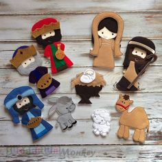 Nativity Felt Doll Set, Christmas dolls