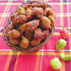 Accras - National dish of St Barthelemy. Carribean Food, Caribbean Recipes, Haitian Food Recipes, Baby Food Recipes, Creole Recipes, Food For Thought, Coco, Entrees, Food To Make