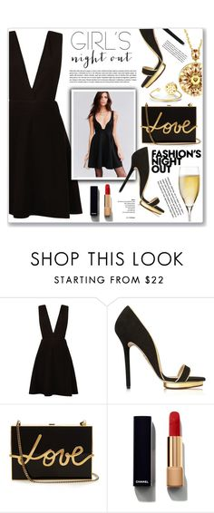 """fashions night out"" by nanawidia ❤ liked on Polyvore featuring New Look, Urban Outfitters, Charlotte Olympia, Lanvin, Fashion's Night Out and Chanel"
