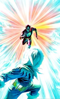 The Flash vs. Captain Cold by Alex Ross