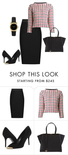 Untitled #1740 by injie-anis on Polyvore featuring мода, Rosie Assoulin, Reiss, Alexander McQueen and Fendi
