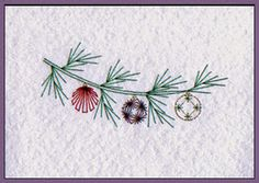 Christmas Paper Embroidery