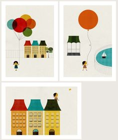In the..., set of three prints