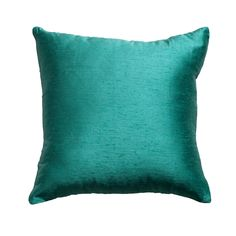 Poly Dupion Peacock Medium Cushion 50x50cm - Bandhini Homewear Design