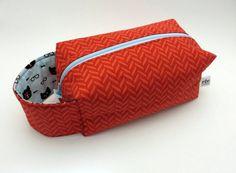Knitting Project Bag | Crochet Project Bag | Box Bag | Zippered Bag | Herringbone for Cats by RivCreative on Etsy Knitting Projects, Crochet Projects, My Other Bag, Box Bag, Stitch Markers, Box Design, Herringbone, Dapper, Mittens
