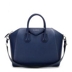 Givenchy - Antigona Medium leather tote - Givenchy's 'Antigona' tote is the bag topping everyone's wish list. Coveted for its tough, structured silhouette, this navy leather style is a sure-fire investment for seasons to come. seen @ www.mytheresa.com