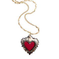 Halskette Herz Rot S, 41€, jetzt auf Fab.