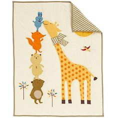 Bright Eyed, Bushy Tailed Crib Quilt  | The Land of Nod