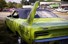 1970 Plymouth Road Runner Superbird ...one of the coolest (and biggest) muscle cars....must have one in green ;-)