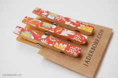 Fall clothes pins by jaderbomb $3.oo