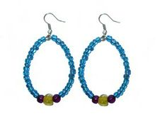 blue hoop earrings by chipina