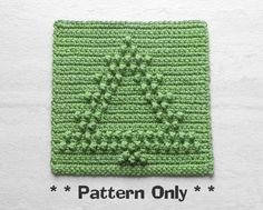 Crochet CHRISTMAS TREE Pattern, Dishcloth, Wash Cloth, Blanket Square, Afghan / Quilt Block, Stocking Stuffer, Rustic Mountain Lodge Decor by AuntSusansCloset on Etsy