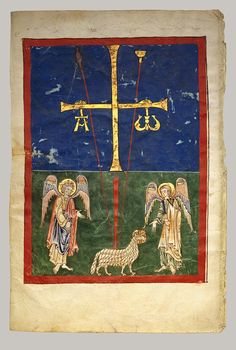 Illuminated Manuscript Page Fine Art Print The Lamb at the Foot of the Cross