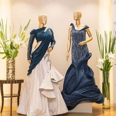 Let a divine midnight blue take center stage at that special occasion you have been waiting for! Shop these signature styles by only at Aza, Bandra! Indian Designer Outfits, Indian Outfits, Designer Dresses, Gown Party Wear, Pakistani Bridal Wear, Indian Gowns, Dress Sketches, Western Dresses, Turquoise Bridesmaid Dresses
