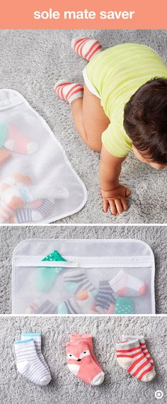 Idea for baby socks + kids socks (okay, ANYONE's socks): put dirty socks right in a zippered laundry lingerie bag. 5 Weeks Pregnant, Baby Socks, Kids Socks, Everything Baby, Baby Time, Baby Registry, Our Baby, Baby Gear, Future Baby