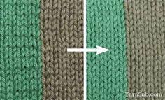 Technique for making stitches more uniform while doing colorwork  Intarsia tips voor een mooiere overgang van kleuren
