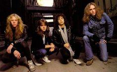 James Hetfield, Lars Ulrich, Kirk Hammett & Cliff Burton