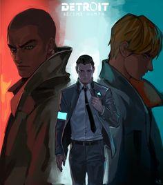 Detroit become human Markus, Connor, Kara By: @gaekkun