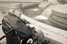 Helping World War II veterans visit their Memorial in DC.