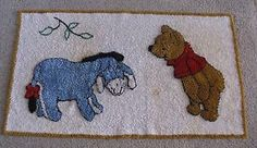 1964 Winnie the Pooh & Eeyore RUG from Sears Roebuck & Co - VINTAGE & VERY RARE