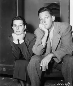 William Holden and wife Ardis on the set of Sunset Blvd. (1950)