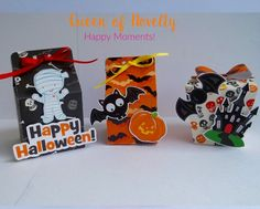 Halloween Favor Boxes / Halloween Treat Boxes by queenofnovelty