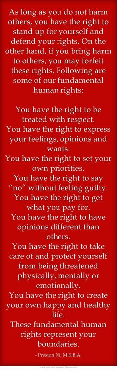 As long as you do not harm others, you have the right to stand...