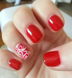 Red Valentine's Day nails :)