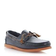 BERTIE MENS BASSETT - Coloured Sole Boat Shoe - navy | Dune Shoes Online