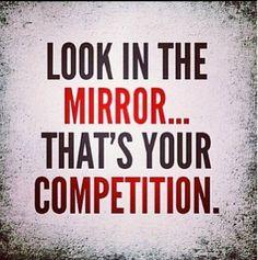 Esta semana va a ser aún mejor, ¿o no? Mira al espejo y verás tu competencia. Sigue luchando por lo que quieres día a día. www.bioslimming.es #mondaymotivation #motivacion #retobioslimming