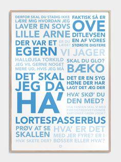 Citatplakat inspireret af 'Blinkende Lygter', med en komplet samling af sjove citater fra filmene. Se den sjove plakat, og andre sjove plakater, lige her!