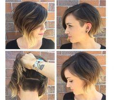 Lubicie wygolone fryzury? Wypróbujcie zatem półdługie fryzury undercut z wygolonym tyłem. Jeśli chcecie drapieżny look,  odsłaniacie tył, jeśli eleganckiego boba - wystarczy przykryć undercut włosami.
