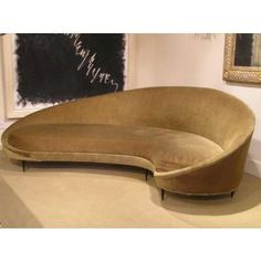 curved sofas and loveseats | rare find...curved sofa on black metal feet by Ico Parisi - Itallian ...