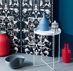 Red, Blue, Black and White Display