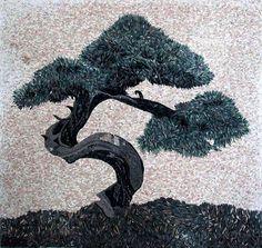 Mosaic Tile - Japanese Bonsai Tree by Phoenician Arts, via Flickr