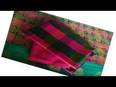 Checked blouse designs/ silk Saree blouse design/checked saree blouse design / multi colour blouse - YouTube Patch Work Blouse Designs, Blouse Back Neck Designs, Silk Saree Blouse Designs, Silk Sarees, Checks Saree, Sew, Videos, Fashion, Moda
