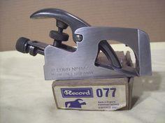 Record #077 Bullnose Rebate Plane All Tools, Ideal Tools, Woodworking Planes, Old Hands, Vintage Records, Workshop, Mint, The Originals, Antique Tools