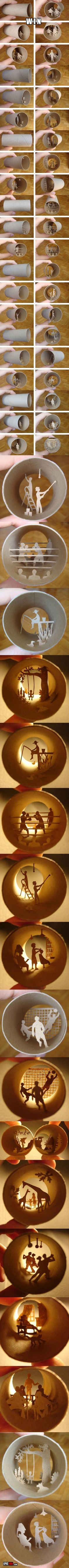 """""""Toilet Paper Tube Art - awesome!"""""""