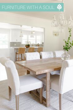 Dining Room $544 This dining room is a breath of fresh air 😌 🌿 📷: @McKennaBleu Dining Decor, Dining Bench, Dining Chairs, Dining Room, Nadeau Furniture, Breath Of Fresh Air, A Table, Home Furnishings, Rustic