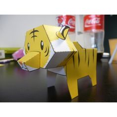 Paper toy Tigre